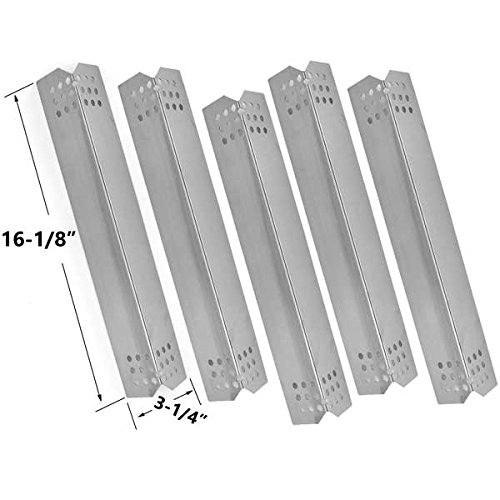 Jenn-Air 720-0709,720-0709B, 720-0727 Gas Grill Models Repait Kit Includes 5 Stainless Steel Burners, 5 Heat Shields and 8MM Stainless Steel Cooking Grids, Set of 3 by Grill Parts Zone (Image #2)
