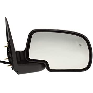 Kool Vue CV19ER Chevy Silverado/Suburban Passenger Side Mirror, With Puddle  Light, Textured Black