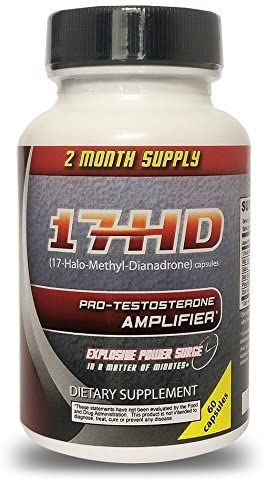 17 HD VyoTech 60 Capsules Testosterone Amplifier, Pre Workout Supplement, Supports Natural Testosterone Levels Muscular Strength Stamina Promotes Fat Lost Lean Muscle Growth Build Mass
