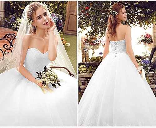 Lace Bride White Sweetheart Dress 2017 Bridal Elegant Long Wedding Gown Aurora tCqwgU0xnn