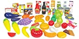 """19"""" Mini Shopping Cart with Full Grocery Food Toy"""