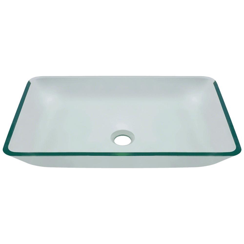 Mr Direct 640 Aqua ColouredガラスVesselバスルームシンク 640-crystal 1 B00FL2GT4I クリスタル クリスタル