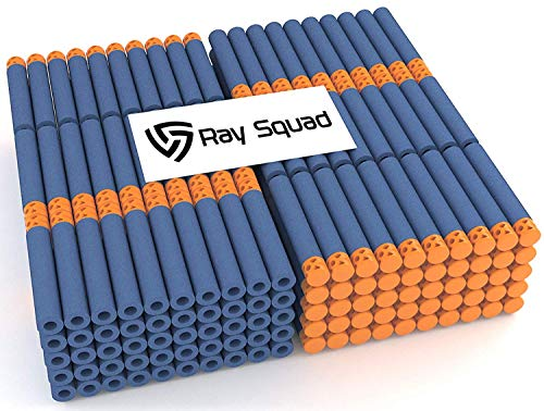 Rays Dart - Ray Squad Waffle Darts 200-Pieces Set, Ultimate Nerf Foam Toy Darts, Premium Refill Bullets for N-Strike Guns, Universal Mega Pack, Firm and Safe Nerf Accessories Amazing Precision Control
