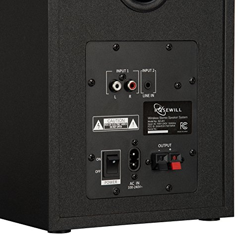 ROSEWILL Bluetooth Computer Speaker System for Laptop, Smartphone, Tablet and Multiple Devices. 2.0 Active Near Field Monitor, Studio Monitor Speaker, Wooden Enclosure. Best Wireless Bookshelf Speaker by Rosewill (Image #3)