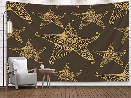 Sertiony Hanging Tapestry Wall Art, Art Map Tapestry Décor 80x60 Inches Texture with Starfish sea Star Infinite Background Suitable for Design Cloth Web Wallpaper for Bedroom Colorful Big - Atlantic Web