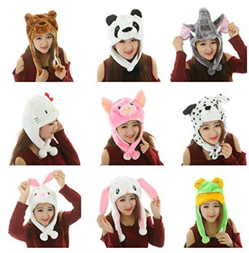 Sevenpring Chic Design Cute Cartoon Performance Headwear Plush Animal Headgear (White Little Rabbit) by Sevenpring
