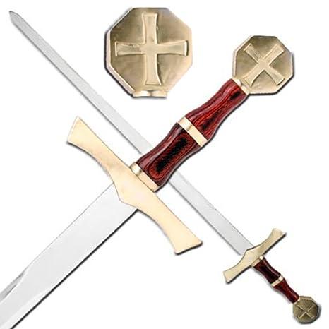 Amazon com : Crusader Knights Honor Cross Sword : Sports