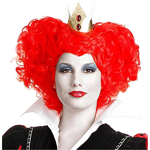 [Red Queen of Hearts Wig Costume Accessory] (Red Queen Of Hearts Costumes Wig)