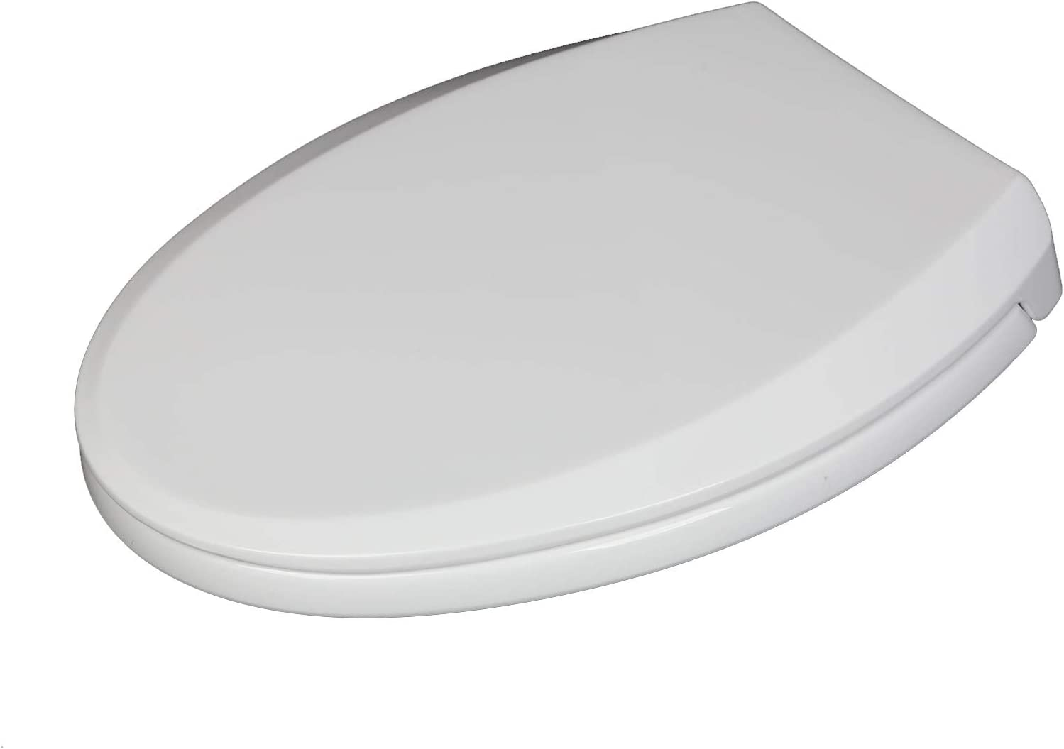 Shoze Slow Soft Close Toilet Seat White Oval Bathroom with Bottom Fixing Hinges