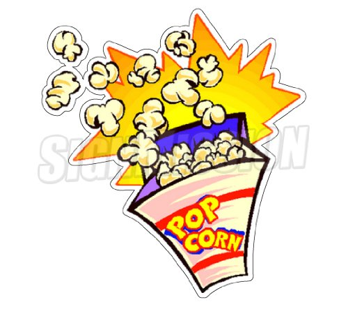 POPCORN I Concession Decal stand trailer cart vendor