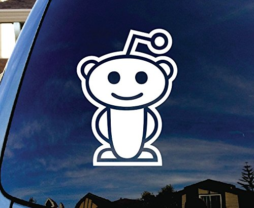 Reddit Alien Window Sticker inches