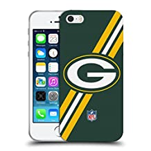 Official NFL Stripes Green Bay Packers Logo Soft Gel Case for Apple iPhone 5 / 5s / SE