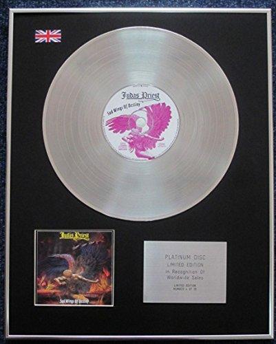 Judas Priest - Limited Edition CD Platinum LP Disc - Sad Wings of Destiny