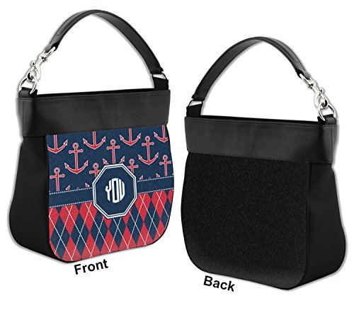 Personalized Argyle amp; Genuine w Trim Leather Purse Hobo Front Anchors z5aXxz