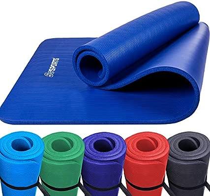 ScSPORTS Esterilla de 190 x 80 x 1,5 Colour Azul Oscuro ...
