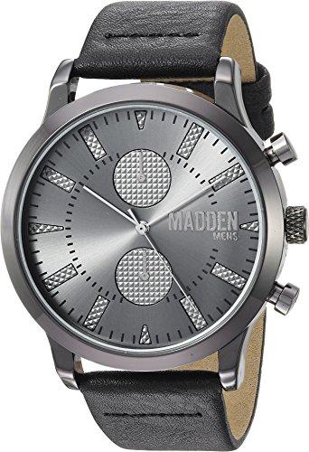 Steve Madden Men's Quartz Metal Casual Watch, Color:Black (Model: SMMW009BK-BK)