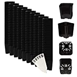The Hydroponic City Black Square Flower Pots for Starting Seedlings, Succulents, or Cacti - 2'' x 2'', Pack of 250 + THCity Stakes
