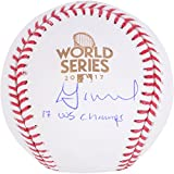 Jose Altuve Houston Astros 2017 MLB World Series Champions Autographed Logo Baseball with 2017 WS Champs Inscription - Fanatics Authentic Certified