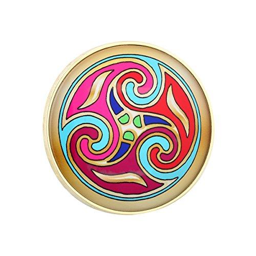 Tara Brooch Book of Kells Gold Plated 3 Swirl