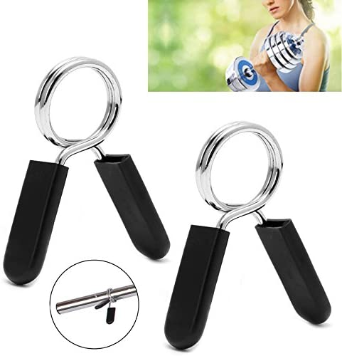 Details about  /2x short dumbbell spring collar training collar dumbbell  long clip clamps