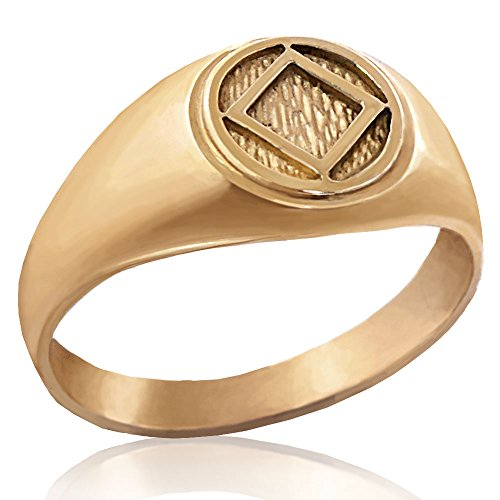 Narcotics Anonymous Solid 10K Yellow Gold 3/8