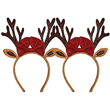 Christmas Reindeer Antlers Headband For Adult Kids Girls Boys One Size Fits Most 2