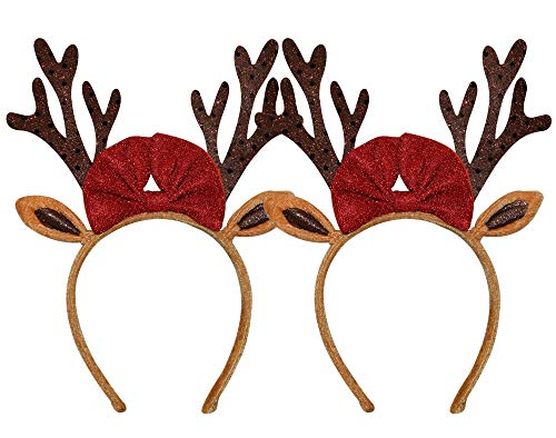 Christmas Reindeer Antlers Headband for Adult Kids Girls Boys - One Size fits Most (2)]()