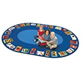Carpets for Kids 2695 Literacy Reading by the Book Kids Rug Size x x, 6'9'' x 9'5'', Blue