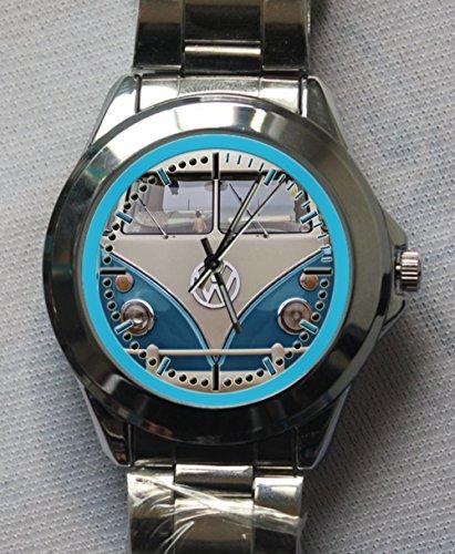 Vw Volkswagen Type 2 Kombi Blue Custom Metal Sport Watch