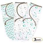 Baby-Swaddle-Wrap-Blanket-for-Newborn-Infant-0-3-Month-Swaddlers-Sleep-Sack-with-Adjustable-Wings-3-Pack-Breathable-Wrap-Sack-for-Boy-Girl-Aqua