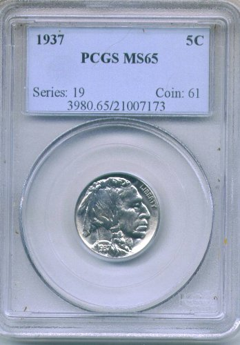 Buffalo Nickel 1937 MS 65 - Nickels Pcgs
