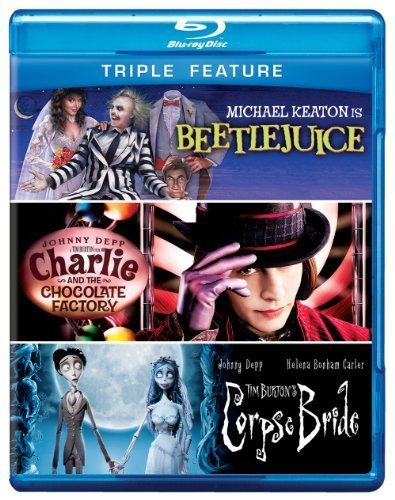 Triple Feature (Beetlejuice / Charlie and the Chocolate Factory / Corpse Bride) [Blu-ray] by Warner Home Video by Tim Burton