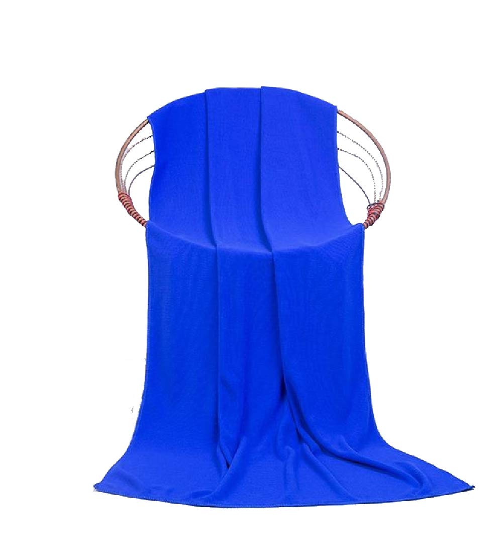 Comaba Fit-and-Flare Easy Care Quality Plain Trendy Soft Use for Sports, Travel, Fitness, Yoga Luxurious Contenta Maximum Dressy Bath Beach Spa and Fitness Towel Blue 28in55in
