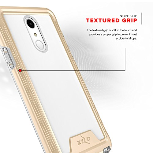 Zizo ION Series compatible with LG Stylo 4 Case Military Grade Drop Tested with Tempered Glass Screen Protector GOLD CLEAR by Zizo (Image #2)