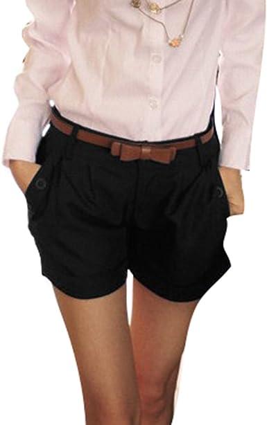 Juqilu Pantalones Cortos para Mujeres - Shorts de Las Bermudas ...