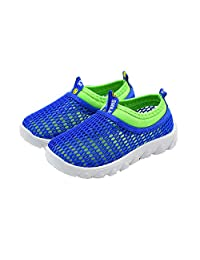 EsTong Children Breathable Mesh Running Sneakers Sandals Slip-on Water Shoes for Boys Girls Beach Outdoor