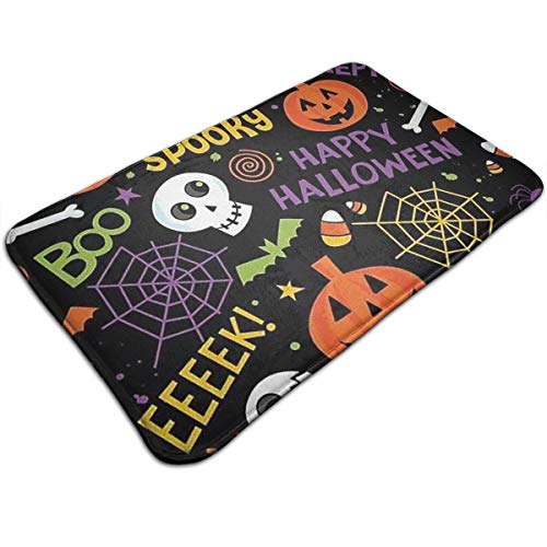 AZOULA Halloween Decoration Indoor Outdoor Doormat Welcome Doormat Bathroom Mats (Machine-Washable/Non-Slip) 31.5
