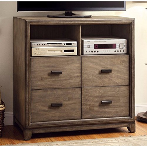 Ash Chest Of Drawers (Furniture of America CM7615TV Antler Natural Ash Media Chest Drawer)