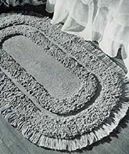OVAL LOOP STITCH RUG - A downloadable vintage 1952 crochet pattern -- Available for Download to Kindle DX, Kindle for PC, Mac, iPhone, Blackberry, iPad, ... home decor, rugs, mat, furnishings)