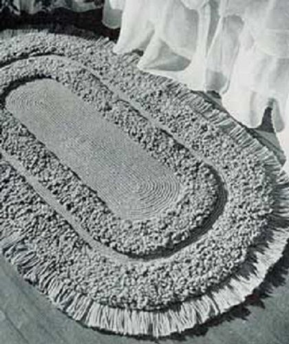 1952 Rug (OVAL LOOP STITCH RUG - A downloadable vintage 1952 crochet pattern -- Available for Download to Kindle DX, Kindle for PC, Mac, iPhone, Blackberry, iPad, ... home decor, rugs, mat, furnishings))