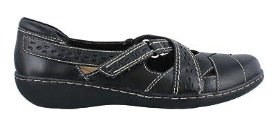 CLARKS Women's, Ashland Spin Slip on Shoe Black ...