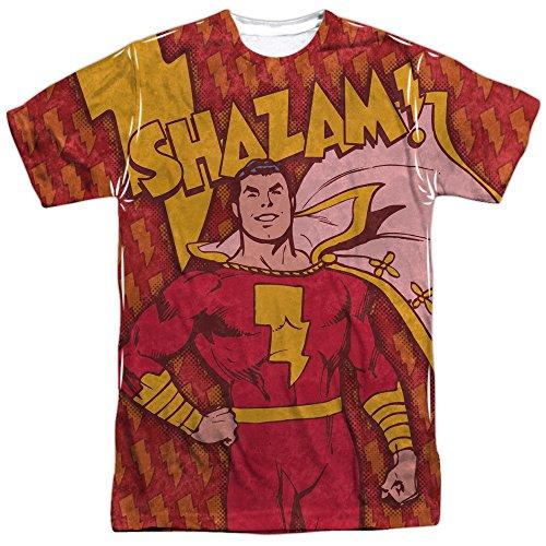Marvel+Comics+Retro+Shirt Products : DC Comics Shazam Bolts Mens Sublimation Shirt