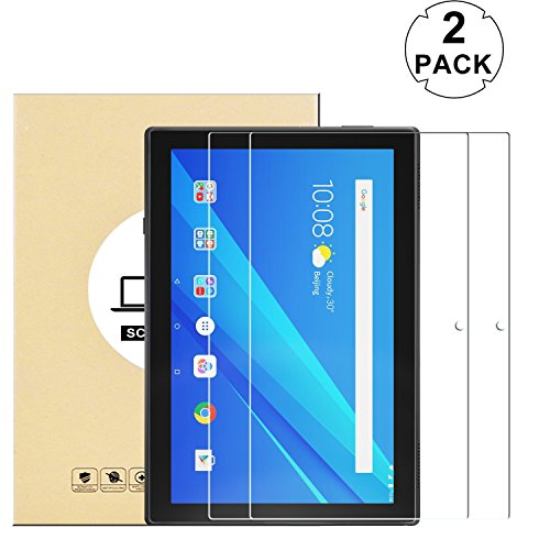 KTTWO (2 PACK) Lenovo Tab 4 10 Screen Protector Glass, 9H Hardness Tempered Glass Anti-Scratch Bubble-Free Screen Protector for Lenovo Tab 4 10 10.1