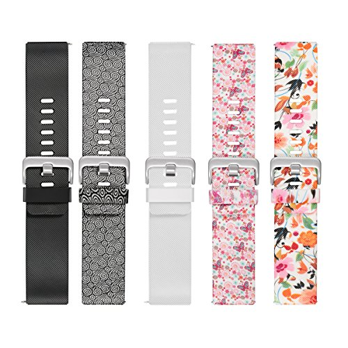 bayite Pack of 5 Accessories Replacement Classic Bands for Fitbit Blaze Smart Watch, Small 5.5-6.7 inches