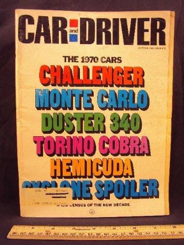 1969 69 October Car and Driver Magazine (Features: Road Test on Alfa Romeo 1750 Duetto Spier and GTV, + Mini Test on Plymouth Barracuda, Ford Torino GT, Oldesmobile 4-4-2 / 442, Plymouth Duster 340, Chevrolet Monte Carlo, & Buick Riviera)
