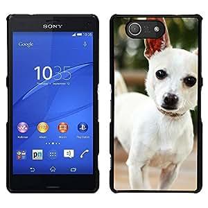 EJOY---Cubierta de la caja de protección para la piel dura ** Sony Xperia Z3 Compact ** --Lindo perro de la chihuahua