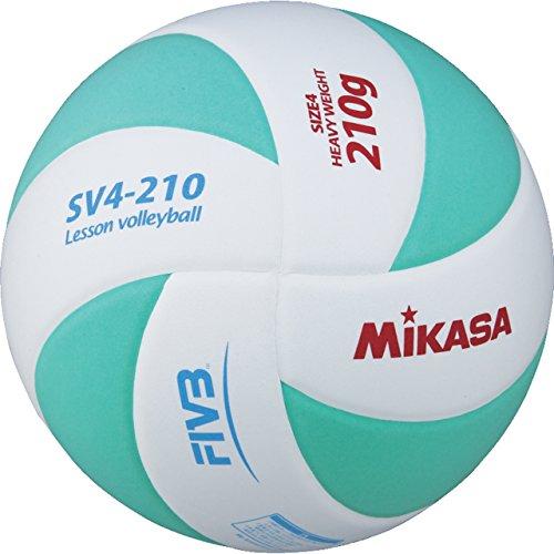 《미카사》(MIKASA) 레슨 발리볼 배구공4호 SV4-210-WLG WLG 화이트/라이트 그린 4 호공