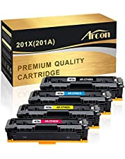 Arcon Compatible Toner Cartridge Replacement for HP 201X 201A CF400X CF401X CF402X CF403X CF400A for Color Laserjet Pro MFP M277dw M252dw M277n M277c6 M252n M277 (Black, Cyan, Magenta, Yellow)