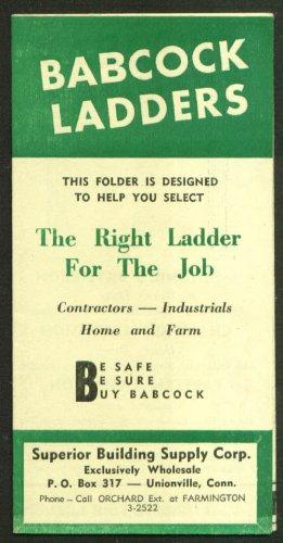 Babcock Ladder sales folder 1950s Unionville CT