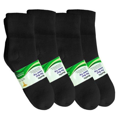 Basico Physicians Diabetic Circulatory Loos Top 12pairs Socks Crew Black